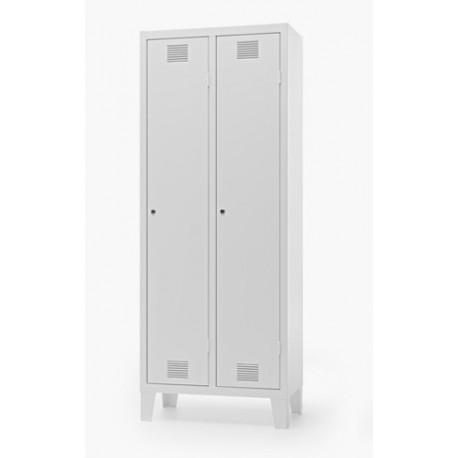 Lock Spogliatoio metallico a 2 posti con serratura 61 x 50 x 180 cm by TANGRAM di 2H arredi per asilo