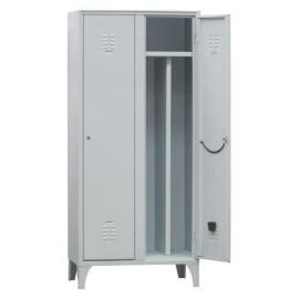 Spogliatoio in metallo Lock 2 posti con separatore interno e serratura