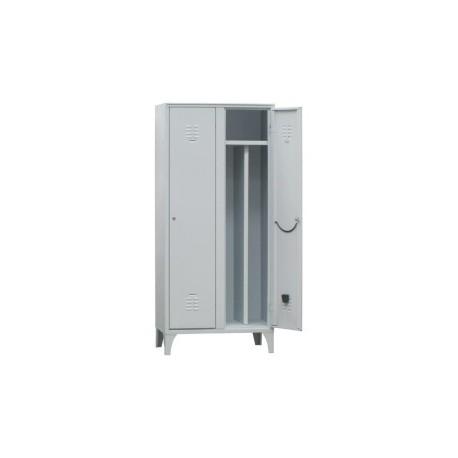 Spogliatoio in metallo Lock 2 posti con separatore interno e serratura by TANGRAM di 2H arredi per asilo