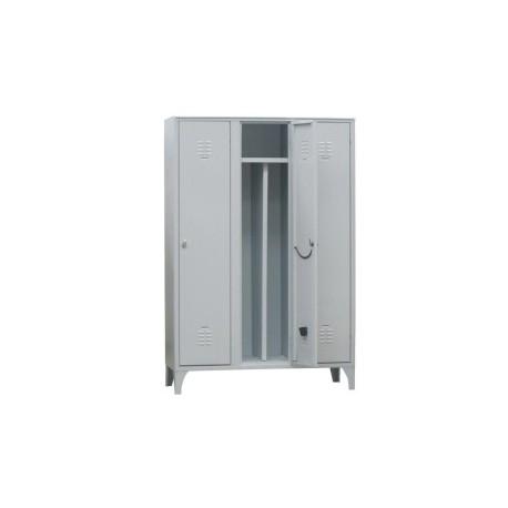 Spogliatoio in metallo Lock 3 posti con separatore interno e serratura by TANGRAM di 2H arredi per asilo