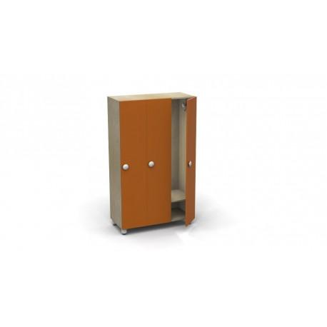 Spogliatoio Rialto 3 posti con ripiani interni e serratura materiale melaminico by TANGRAM di 2H arredi per asilo
