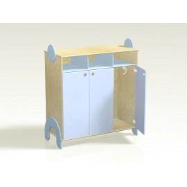 Spogliatoio Lalla 6 posti con ante e vano a giorno in legno 100 x 44 x 106 cm