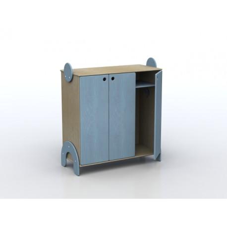 Spogliatoio Lalla 6 posti con ante ripiano interno superiore in legno by TANGRAM di 2H arredi per asilo