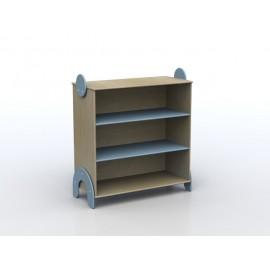 Mobile Lalla a due ripiani a giorno in legno multistrato 100 x 44 x 106 cm