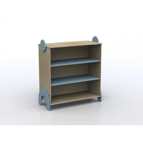 Mobile Lalla a due ripiani a giorno in legno multistrato 100 x 44 x 106 cm by TANGRAM di 2H arredi per asilo