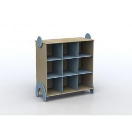 Mobile contenitore Lalla a 9 caselle in legno multistrato 100 x 44 x 106 cm by TANGRAM di 2H arredi per asilo