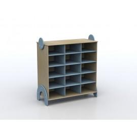 Mobile contenitore Lalla a 15 caselle in legno multistrato 100 x 44 x 106 cm
