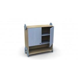 Mobile contenitore Lalla con ante e vano a giorno inferiore in legno multistrato