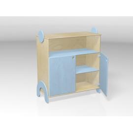 Mobile contenitore Lalla con ante e vano a giorno superiore in legno multistrato