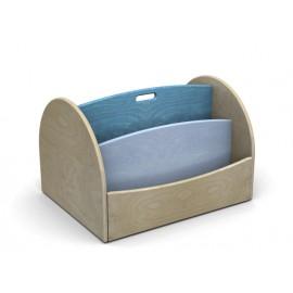 I mobili contenitori Biblio Libreria carrellata a 4 scomparti in legno