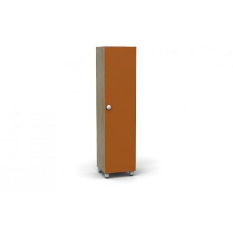 Mobile contenitore Rialto con ante e 5 cinque ripiani interni 50 x 44 x 202 cm by TANGRAM di 2H arredi per asilo