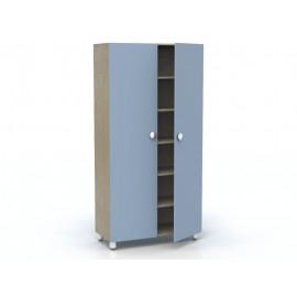 Mobile contenitore Rialto con ante e 5 cinque ripiani interni 100 x 44 x 202 cm by TANGRAM di 2H arredi per asilo