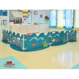 Pannello divisorio Minimare con giunzioni per creare pareti divisorie in vari modelli by TANGRAM di 2H arredi per asilo