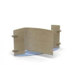 Pannello divisorio Minilinea base ellittica e cancelletto centrale
