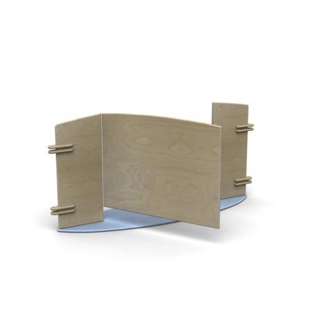 Pannello divisorio Minilinea con snodi per aggancio ad altri pannelli  by TANGRAM di 2H arredi per asilo