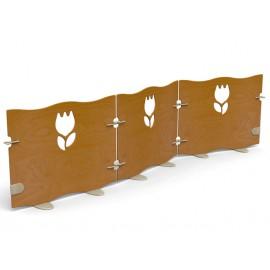 Pannello divisorio Tulip a giunzioni per creare pareti divisorie più dimensioni by TANGRAM di 2H arredi per asilo