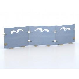 Pannello divisorio Onda a giunzioni per unire pareti divisorie varie dimensioni