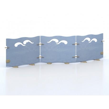 Pannello divisorio Onda a giunzioni per unire pareti divisorie varie dimensioni by TANGRAM di 2H arredi per asilo