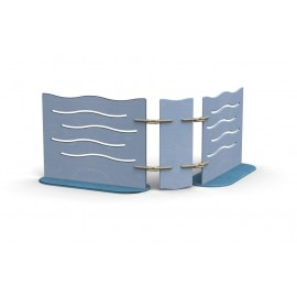 Box Separè compattabile con 2 pannelli orientabili in varie dimensioni