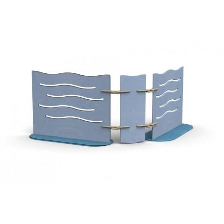 Box Separè compattabile con 2 pannelli orientabili in varie dimensioni by TANGRAM di 2H arredi per asilo