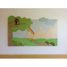 Pannellatura Maxipuzzle tematica a parete o divisoria realizzata su misura