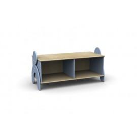 Panchetta Lalla con 2 vani a giorno in legno multistrato 100 x 44 x 42 cm