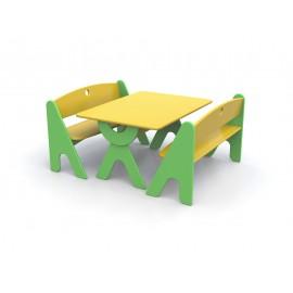 Tavolo rettangolare Garden bicolore in legno 100 x 74 x 52 cm