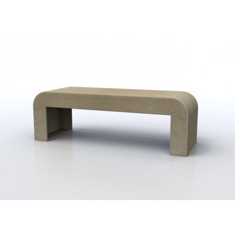 Seduta informale Alfredo in legno multistrato curvato 148 x 40 x 48 cm by TANGRAM di 2H arredi per asilo