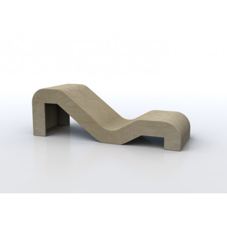 Seduta informale Mimmo a due livelli per adulti e bambini in legno multistrato by TANGRAM di 2H arredi per asilo