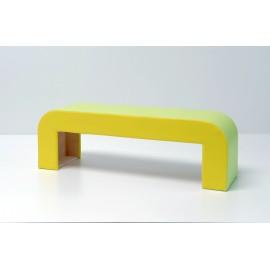 Seduta informale Alfredo in legno multistrato curvato imbottita 148 x 40 x 48 cm