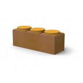 Seduta informale 3 posti Dipiù in MDF laccato dotata di cuscino imbottito