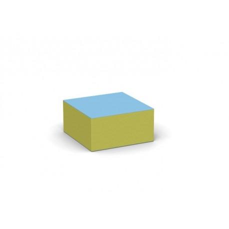 Pouf quadrato seduta per bambini in materiale espanso ed ecopelle ignifuga by TANGRAM di 2H arredi per asilo