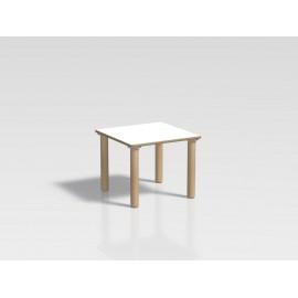 Tavolo quadrato Ovvio in legno con rivestimento in laminato in varie dimensioni