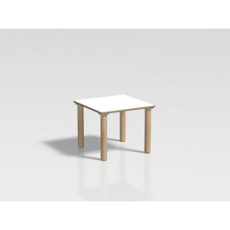 Tavolo quadrato Ovvio in legno con rivestimento in laminato in varie dimensioni by TANGRAM di 2H arredi per asilo