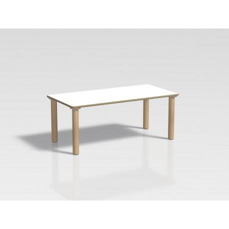 Tavolo rettangolare Ovvio in legno rivestito in laminato in varie dimensioni by TANGRAM di 2H arredi per asilo