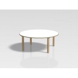 Tavolo rotondo Ovvio in legno con rivestimento in laminato in varie dimensioni