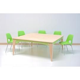 Tavolo Lalla quadrato maxi in legno multistrato varie dimensioni