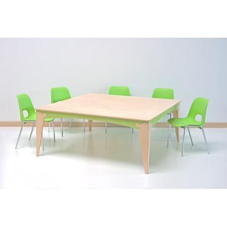 Tavolo Lalla quadrato maxi in legno multistrato varie dimensioni by TANGRAM di 2H arredi per asilo