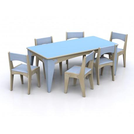 Tavolo rettangolare modello Lalla in legno multi strato in varie dimensioni by TANGRAM di 2H arredi per asilo