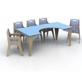 Tavolo per la pappa modello Lalla per bambini in legno multistrato