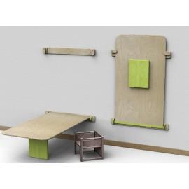 Tavolo rettangolare Fantasmino standard in legno multistrato 120 x 65 x 42/52 cm by TANGRAM di 2H arredi per asilo