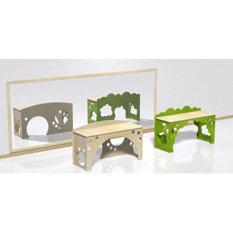 Scrivania tana tematica modello Prato con incastro a puzzle in legno multistrato by TANGRAM di 2H arredi per asilo