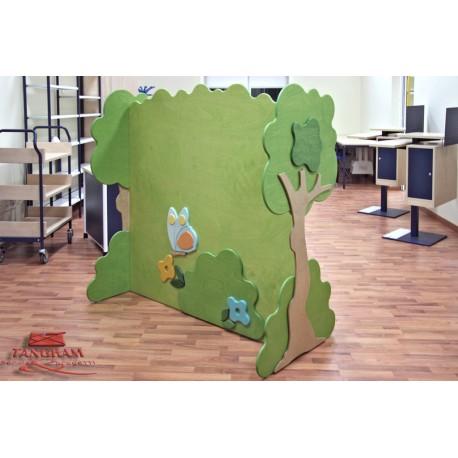 Espositore Boschetto divisorio tematico bifrontale in legno multistrato by TANGRAM di 2H arredi per asilo