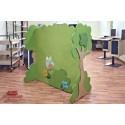 Espositore Boschetto divisorio tematico bifrontale in legno multistrato