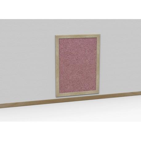 Bacheca Tappo da parete in sughero con cornice in legno varie dimensioni by TANGRAM di 2H arredi per asilo