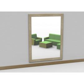 Specchio a parete antinfortunistico modello Socrate cornice legno più dimensioni