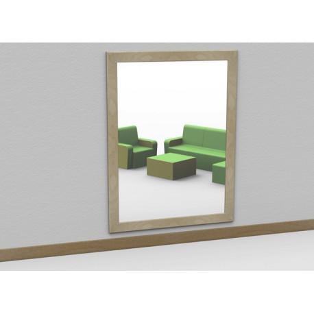 Specchio a parete antinfortunistico Socrate con cornice in legno in varie dimensioni by TANGRAM di 2H arredi per asilo