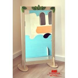 Specchio a parete antinfortunistico cartesio cornice e piedistalli varie dim. by TANGRAM di 2H arredi per asilo