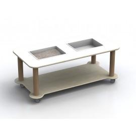 Carrello acqua Mosè sabbia a 2 vasche removibili in laminato antigraffio