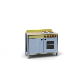 Modulo Simply con forno e piano cottura in legno multistrato 76 x 42 x 73 cm